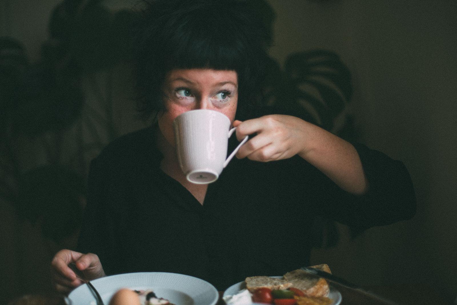 Jag äter frukost